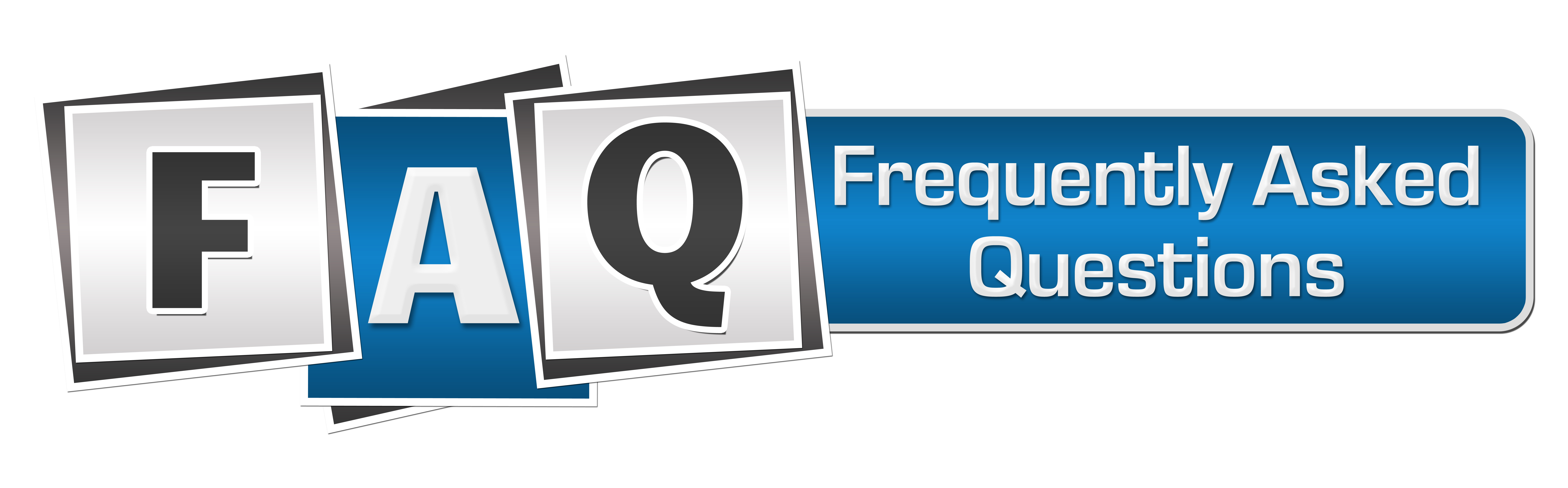 FAQ Blue Grey Squares Bar